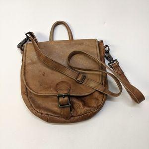Hobo International Distressed Shoulder Saddle Bag